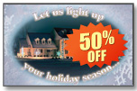 #829 - Holiday Lighting Jumbo Postcard
