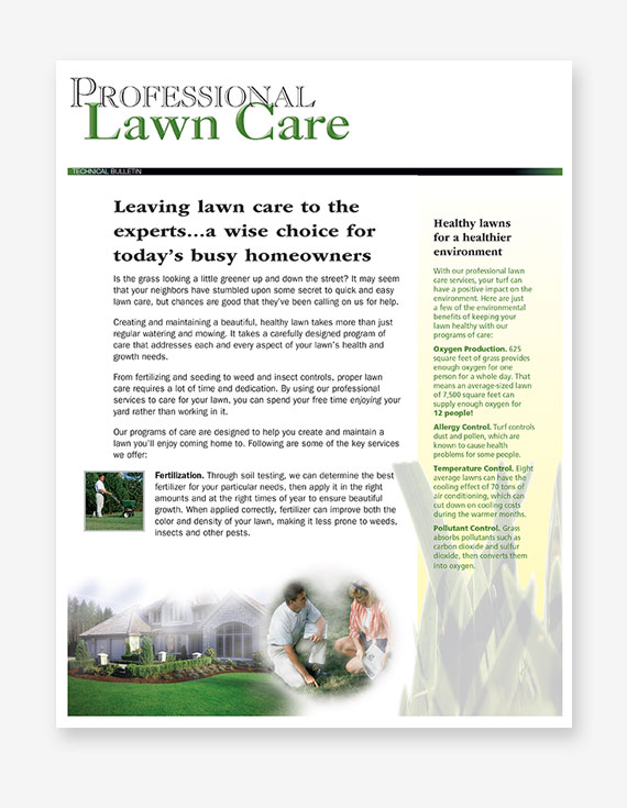 #259 - Professional Lawn Care Bulletin