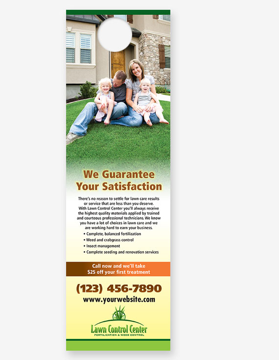 "#711 - Lawn Care ""We Guarantee"" Door Hanger"