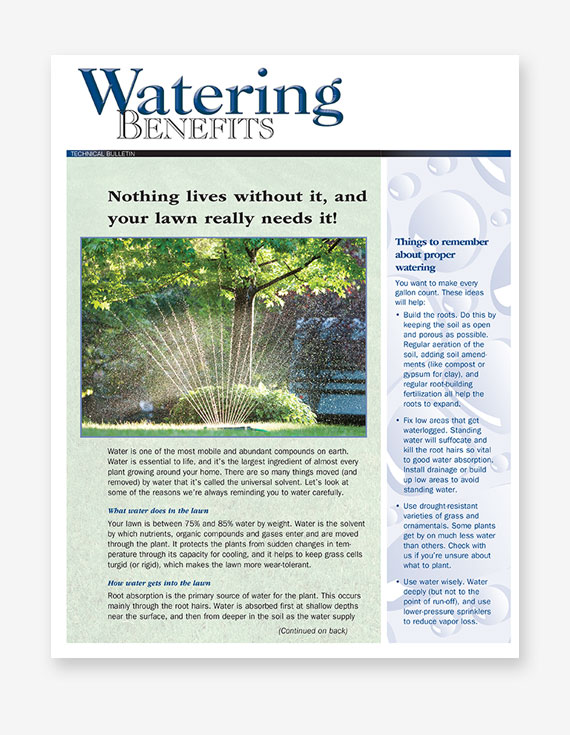#256 - Watering Benefits Bulletin