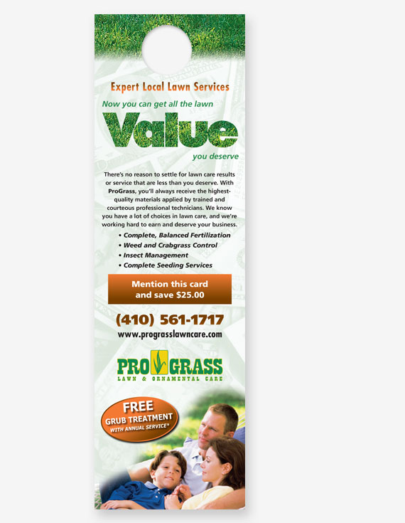 "#710 - Lawn ""Value"" Door Hanger"