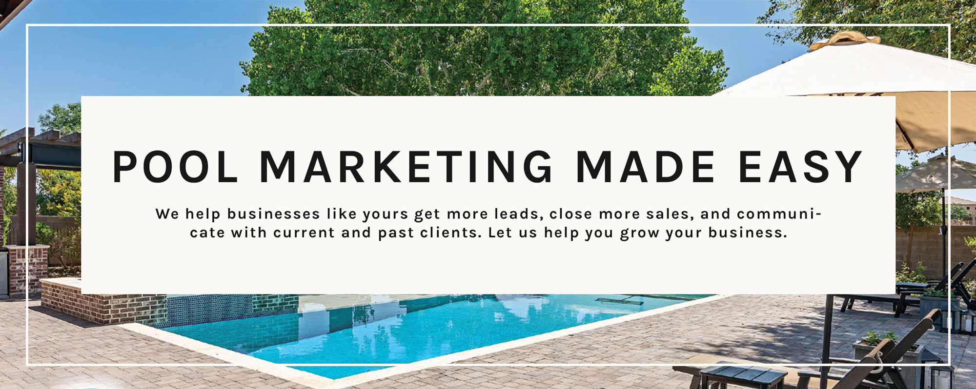 We help businesses like yours get more leads, close more sales, and communicate with current and past clients.